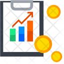 Finance Report Increase Growth Money Icon