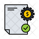 Finance Report Coin Dollar Icon