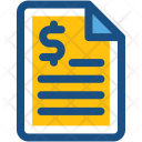 Finance Report Dollar Icon