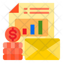 Finance Report Mail Icon