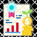 Reward Growth Money Stact Icon