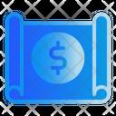 Document Banking Money Icon