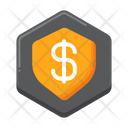 Finance Shield Financial Protection Security Icon