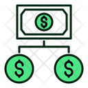 Finance Structuire Money Structure Bank Dependencies Icon