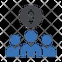 Group Teamwork Dollar Icon