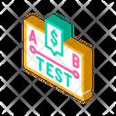 A B Test Isometric Icon
