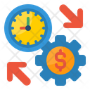 Finance Time Management Setting Money Icon