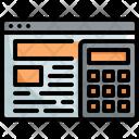Calcuulator Web Seo Icon