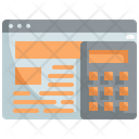 Finance Website Calcuulator Web Icon