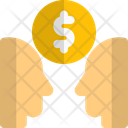 Financer Two People And Money Business Mind Icon