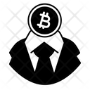 White Collar Btc Pen Draw Icon