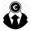 White Collar Eur Pen Draw Icon