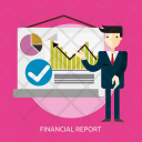 Financial Report Business Icon