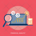 Financial Analyst Calculator Icon