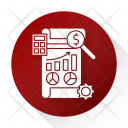 Financial Report Development Icon