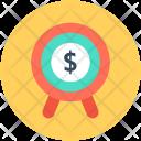 Financial Target Aim Icon