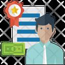 Financial Achiever Target Achiever Businessman Icon