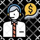 Financial Advisor Financer Businessman Icon