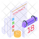 Business Reminder Financial Agenda Business Meeting Icon