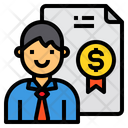 Manager Certificate Finance Icon