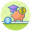 Financial Aid Piggy Bank Financial Responsibility Icon