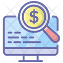 Financial Analysis Money Analysis Financial Monitoring Icon