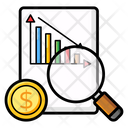 Financial Analysis Market Analysis Report Review Icon