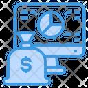 Money Bag Computer Report Icon