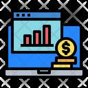 Website Graph Laptop Icon