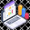 Online Analytics Business Analytics Financial Analytics Icon