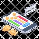 Mobile Earning App Digital Money Financial Analytics Icon