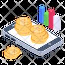 Bitcoin Banking Financial App Mobile Money Icon