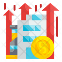 Financial Benefit Coins Growth Icon