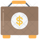 Financial Briefcase Money Documents Icon
