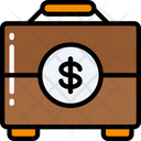 Money Documents Suit Case Icon