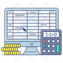 Finance Calculations Money Calculations Accounting Icon