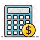 Financial Calculator Business Calculations Cost Estimation Icon