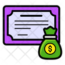 Financial Certificate Certificate Award Icon