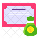 Financial Certificate Icon