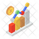 Financial Chart Growth Chart Statistical Analysis Icon