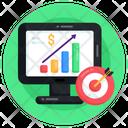 Business Aim Financial Growth Financial Chart Icon