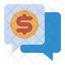 Financial Chat Chat Chat Bubble Icon