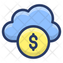 Financial Cloud Network Icon