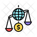 Financial Crisis World Icon