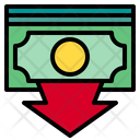 Currency Down Arrow Icon