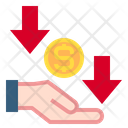 Hand Currency Arrows Icon