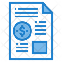 Financial Data Finance Report Icon