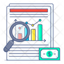 Business Analysis Financial Data Financial Analysis Icon