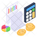 Financial Report Data Report Financial Data Icon