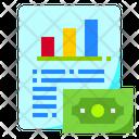 Financial Data Selling Data Profit Data Icon